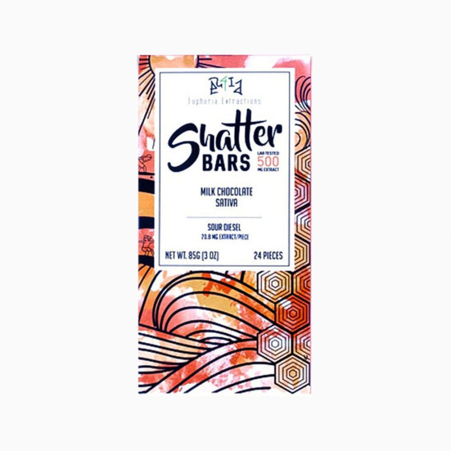 Shatter Bar 500mg – Sativa Milk Chocolate