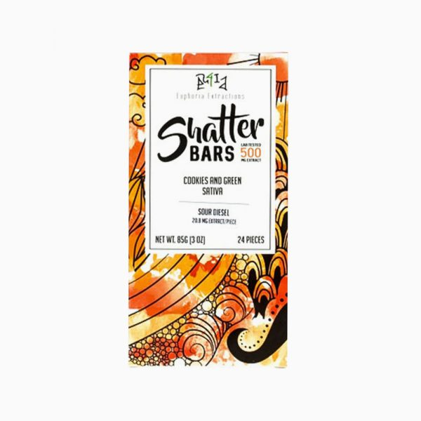 Shatter Bar 500mg – Sativa Cookies & Green