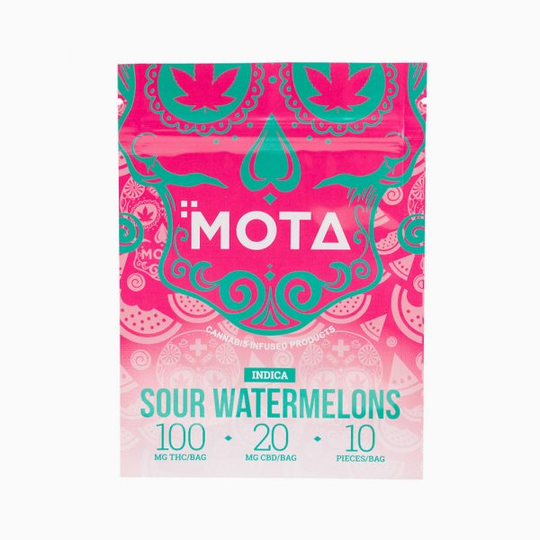 Mota Sour Watermelons 100mg THC