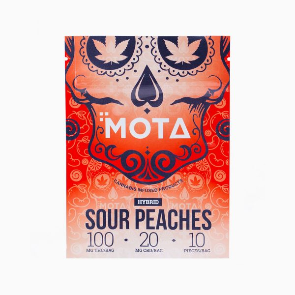Mota Sour Peaches Hybrid 100mg THC