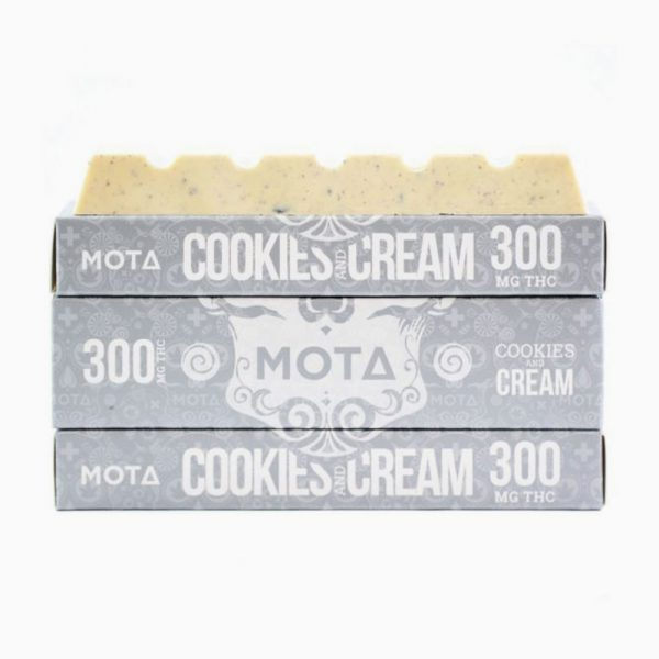 Mota Cookies And Cream Bar 300mg THC